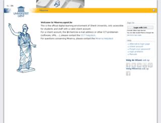 minerva.ugent.be screenshot