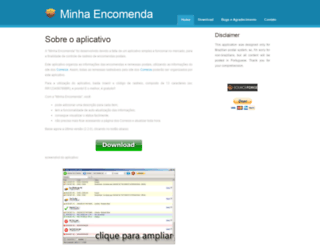 minhaencomenda.sourceforge.net screenshot