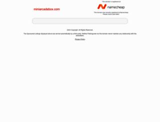 miniarcadebox.com screenshot