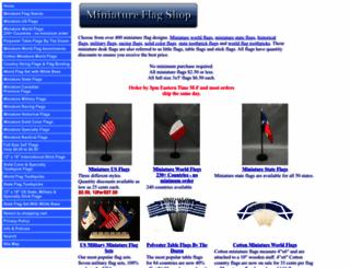 miniatureflagshop.com screenshot