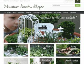 miniaturegardenshoppe.com screenshot