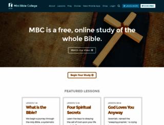 minibiblecollege.org screenshot