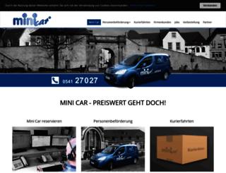 minicar-osnabrueck.de screenshot