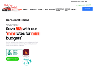 minicarrentals.com.au screenshot