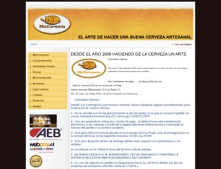 minicerveceria.cl screenshot