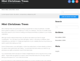 minichristmastrees.net screenshot