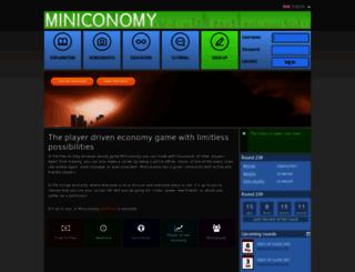 miniconomy.nl screenshot