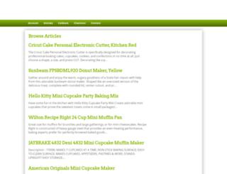 minicupcakemaker.com screenshot