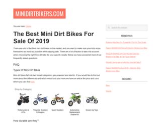 minidirtbikers.com screenshot