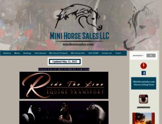 minihorsesales.com screenshot