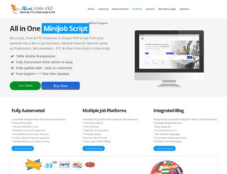 minijobscript.com screenshot