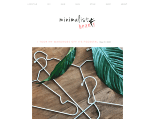 minimalistbeauty.com screenshot