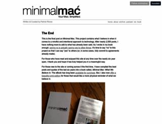 minimalmac.com screenshot