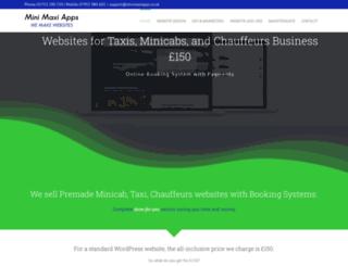 minimaxiapps.co.uk screenshot