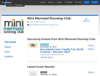 minimermaids.racemine.com screenshot