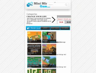 miniminecraftgamefree.com screenshot