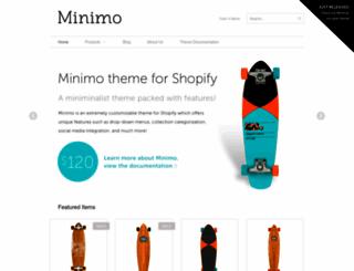 minimo-white.myshopify.com screenshot