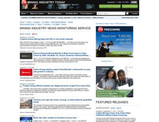 mining.einnews.com screenshot