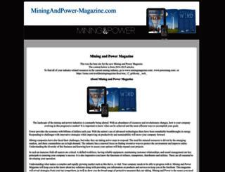 miningandpower-magazine.com screenshot