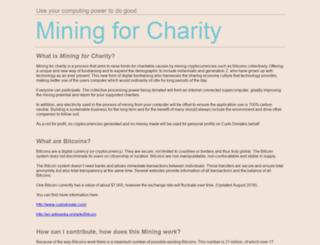 miningforcharity.org screenshot