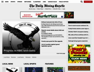 mininggazette.com screenshot