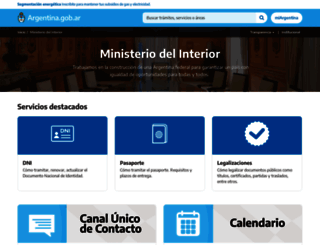 mininterior.gov.ar screenshot