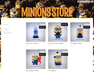 minions.storenvy.com screenshot