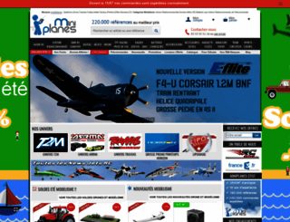 miniplanes.fr screenshot