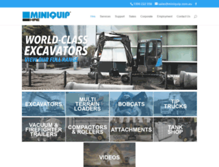 miniquip.com.au screenshot