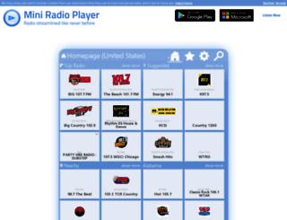 miniradioplayer.net screenshot
