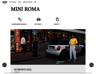 miniroma.mini.it screenshot
