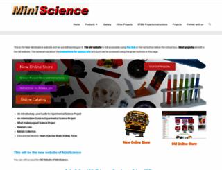 miniscience.com screenshot