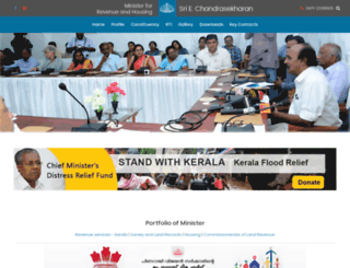 minister-revenue.kerala.gov.in screenshot