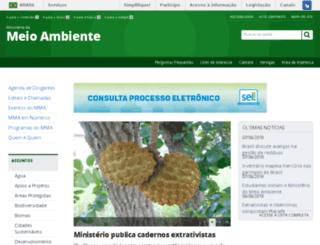 ministeriodomeioambiente.gov.br screenshot