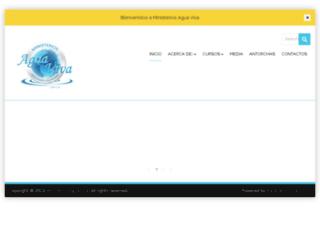 ministeriosaguaviva.com screenshot