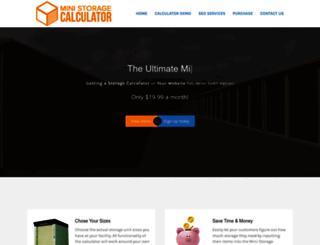 ministoragecalculator.com screenshot