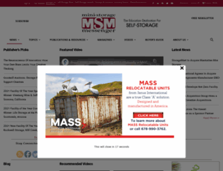 ministoragemessenger.com screenshot