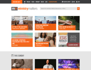 ministrymatters.com screenshot