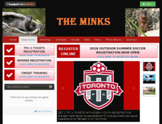 minks.bramptonnorthsoccer.com screenshot