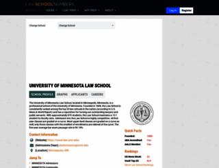 minnesota.lawschoolnumbers.com screenshot