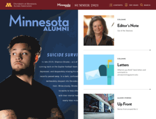 minnesotaalumni.org screenshot