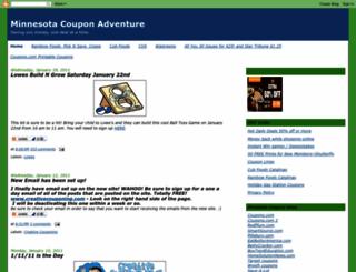 minnesotacouponadventure.blogspot.com screenshot