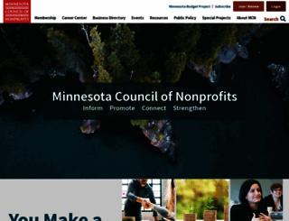minnesotanonprofits.org screenshot
