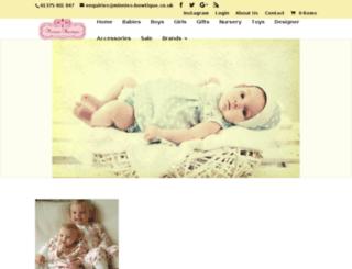 minnies-bowtique.co.uk screenshot