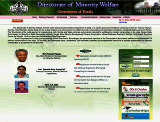 minoritywelfare.kerala.gov.in screenshot