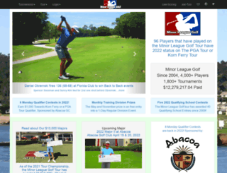 minorleaguegolf.com screenshot