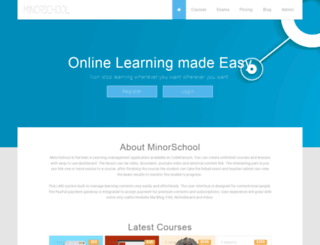 minorschool.net screenshot