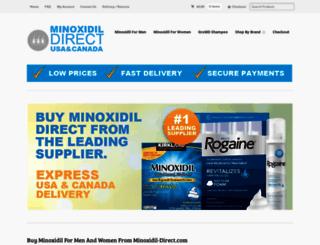 minoxidildirect.com screenshot