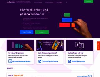 minpension.se screenshot