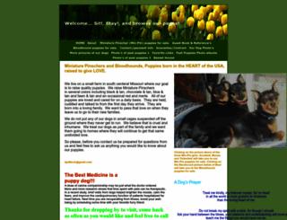 minpin-bloodhound-pug-puppies.com screenshot